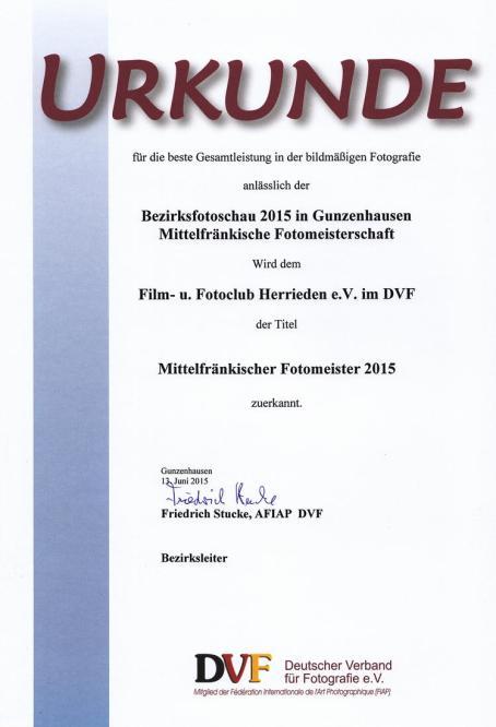Mittelfränkischer Fotoclubmeister 2015