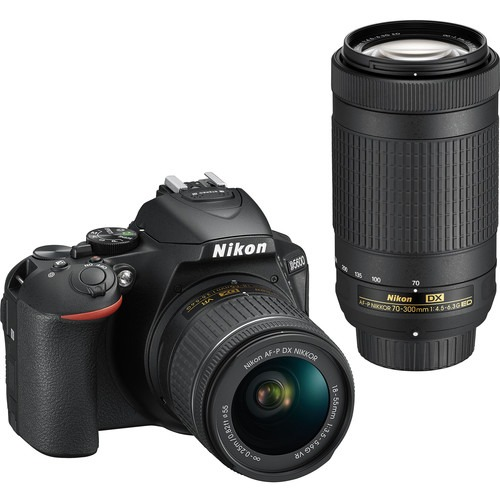 Nikon D5600 DSLR Camera + 18-55mm AF -P DX VR Lens + 70-300mm AF -P DX Lens + Free Delivery