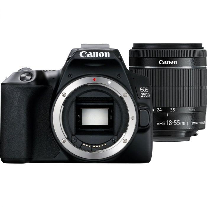 Canon EOS 250D DSLR Camera + 18-55mm Lens (Black)