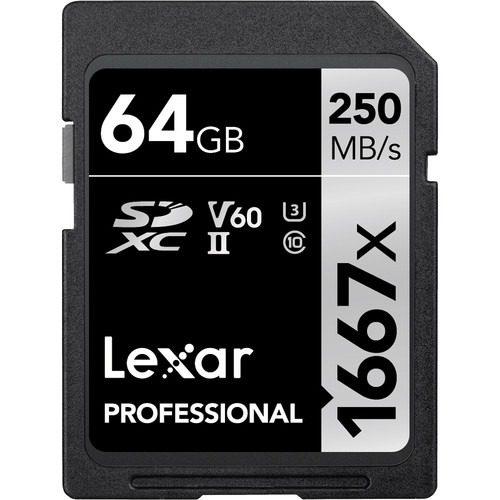 Lexar 64GB Professional 1667x UHS-II SDXC Memory Card