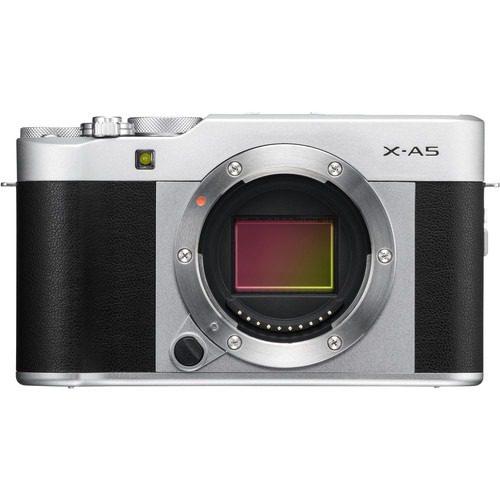 Fujifilm X-A5 Mirrorless Digital Camera Body Only (Silver)
