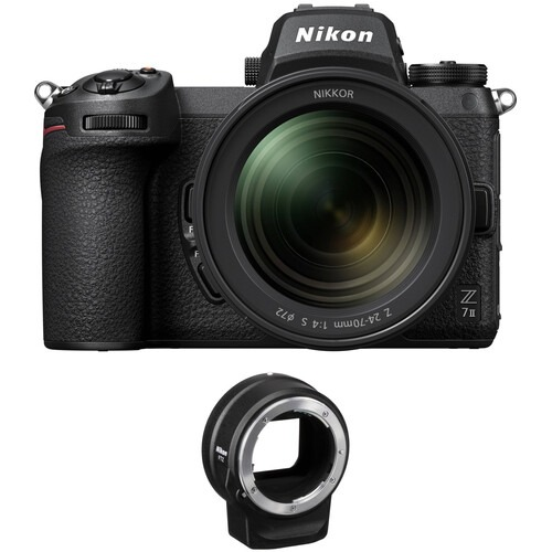 NIKON Z7II. + 24-70mm lens and ftz adapter