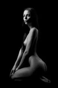 Černobílý fotografický akt
