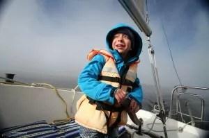 jachting děti