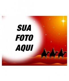Carto De Natal Em Que Sua Foto Aparece Em Uma Moldura