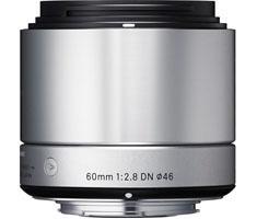 Sigma NEX 60mm F/2.8 zilver ART DN voor Sony NEX