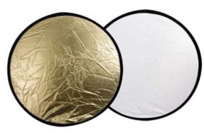 Linkstar Reflectiescherm 2 in 1 Goud/Zilver 80 cm