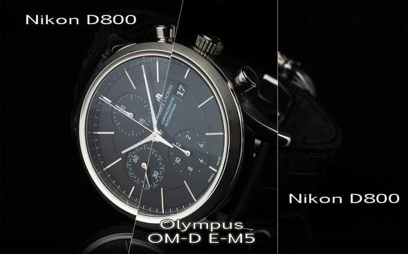 Vergleich Nikon D800 mit Olympus OM-D E-M5