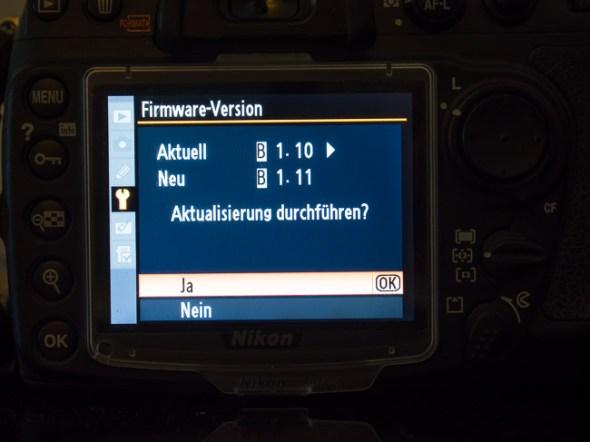 Nikon D300 Firmware Update 1.10 auf 1.11
