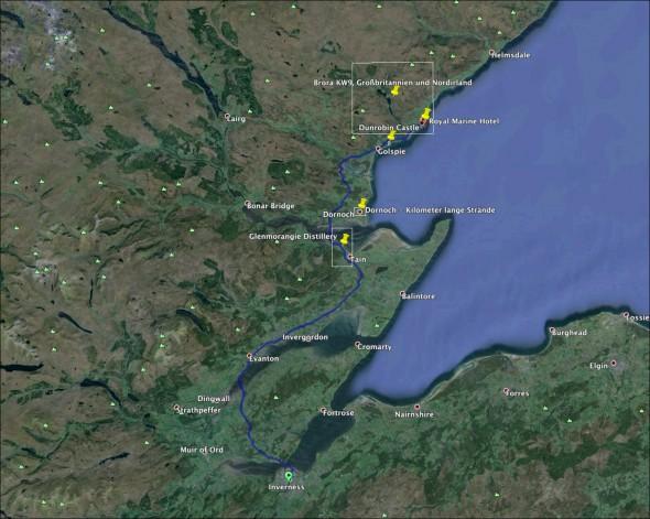 Schottland Karte - Tag 5