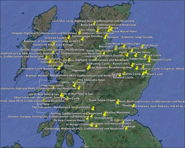 Schottland Karte Viewpoints
