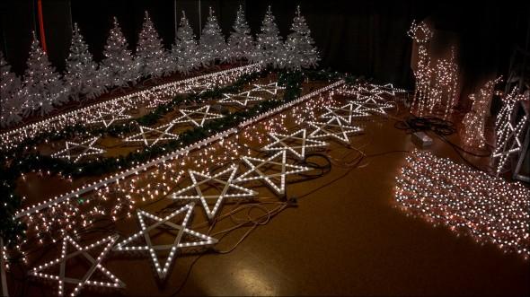 Weihnachtsbeleuchtung mit über 4000 RGB LED
