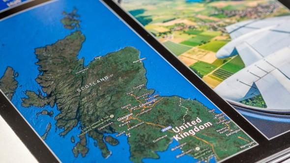 Gestaltungsideen - Kartenausschnitt um die Route zu dokumentieren