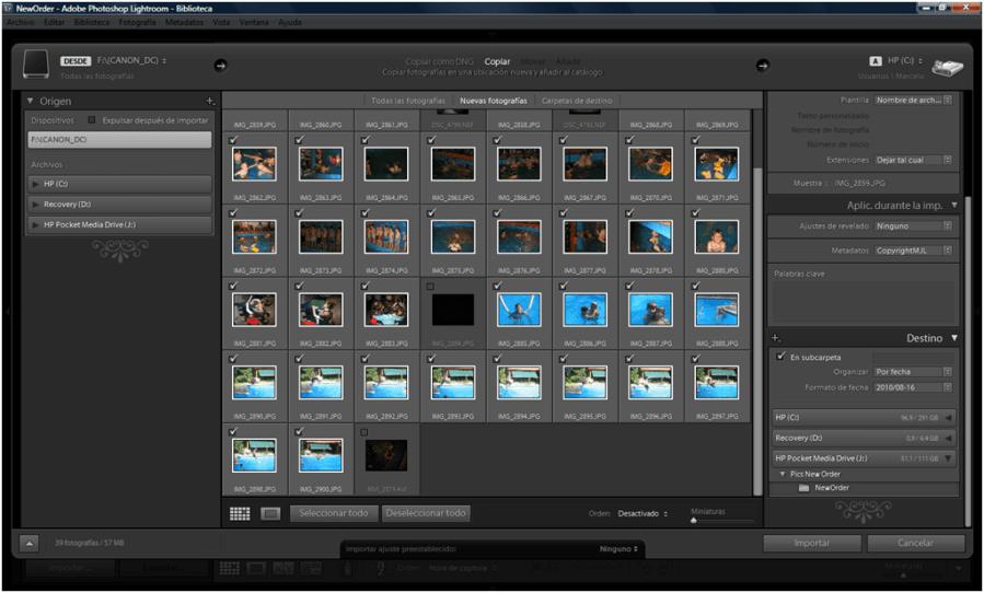 Organizar fotos con Adobe Lightroom