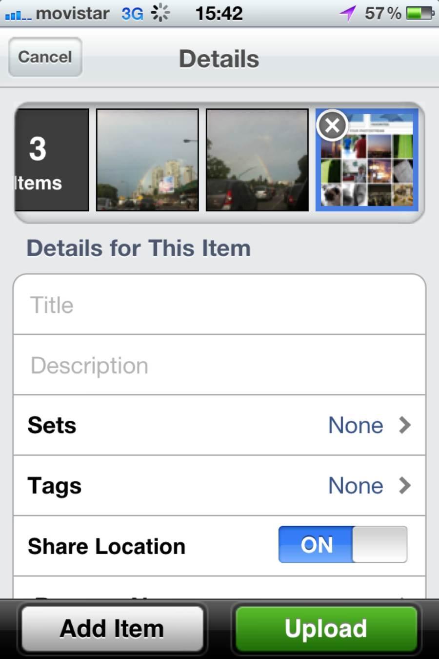 Flickr para iOS