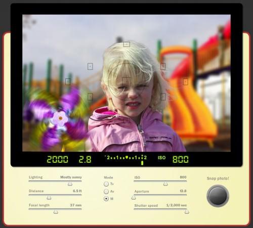 Simulador de cámara fotográfica