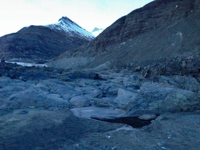 teruggetrokken gletsjer