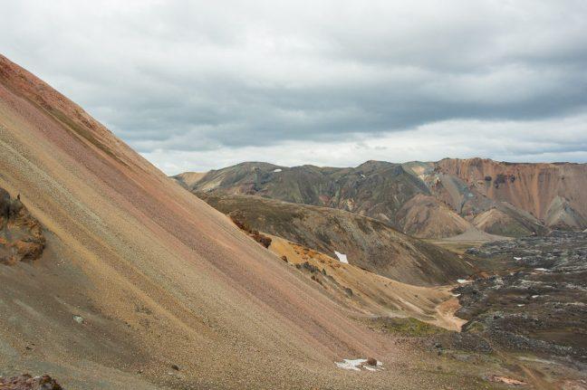 IJsland, ryolietbergen