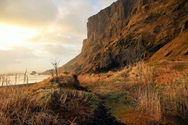 prachtig licht op het landschap van IJsland