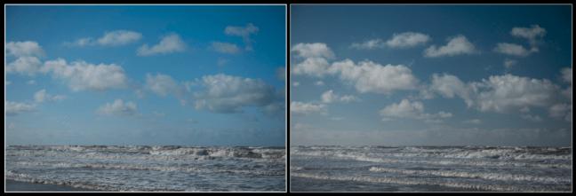 effect polarisatiefilter op lucht