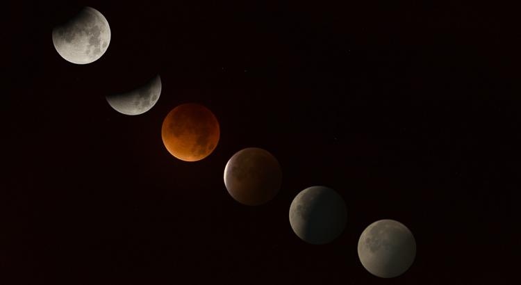 maansverduistering & bloedmaan