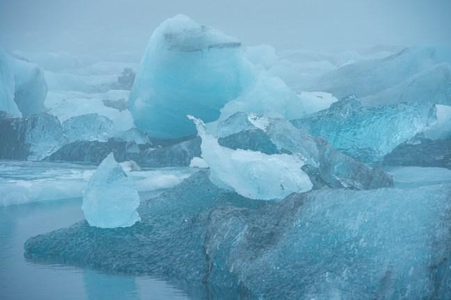 IJs in een gletsjermeer