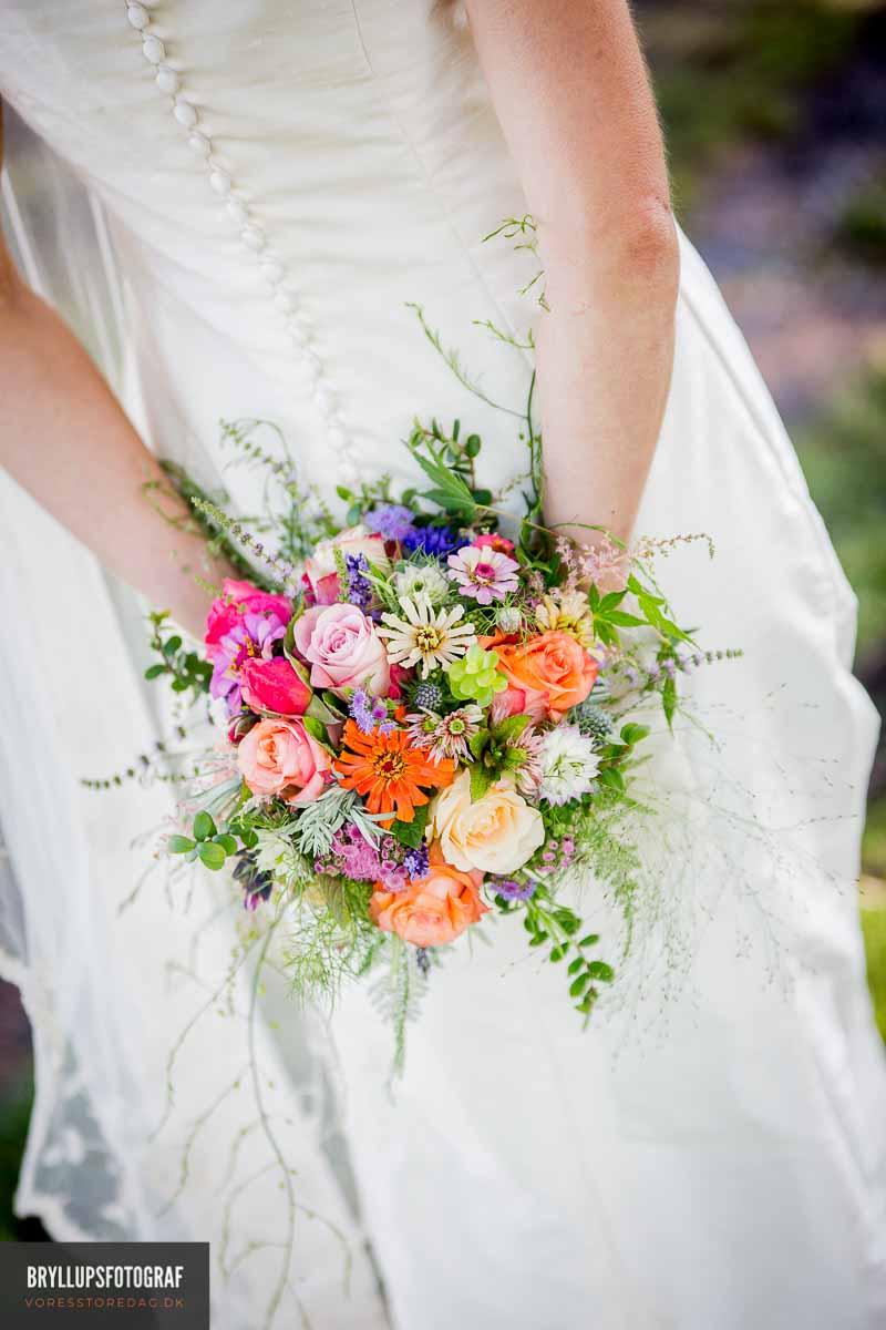 brud med brudebuket Fredericia