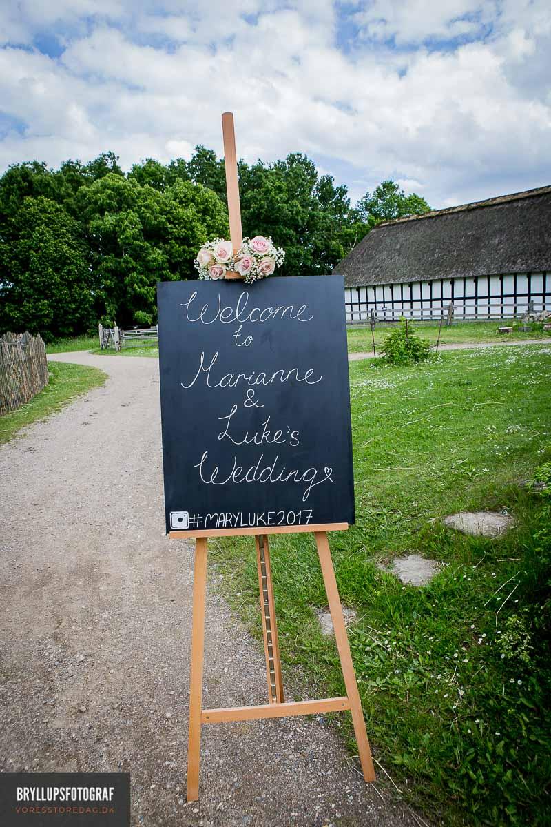Bryllupsfotografer til fotografering af smukke bryllupsbillede