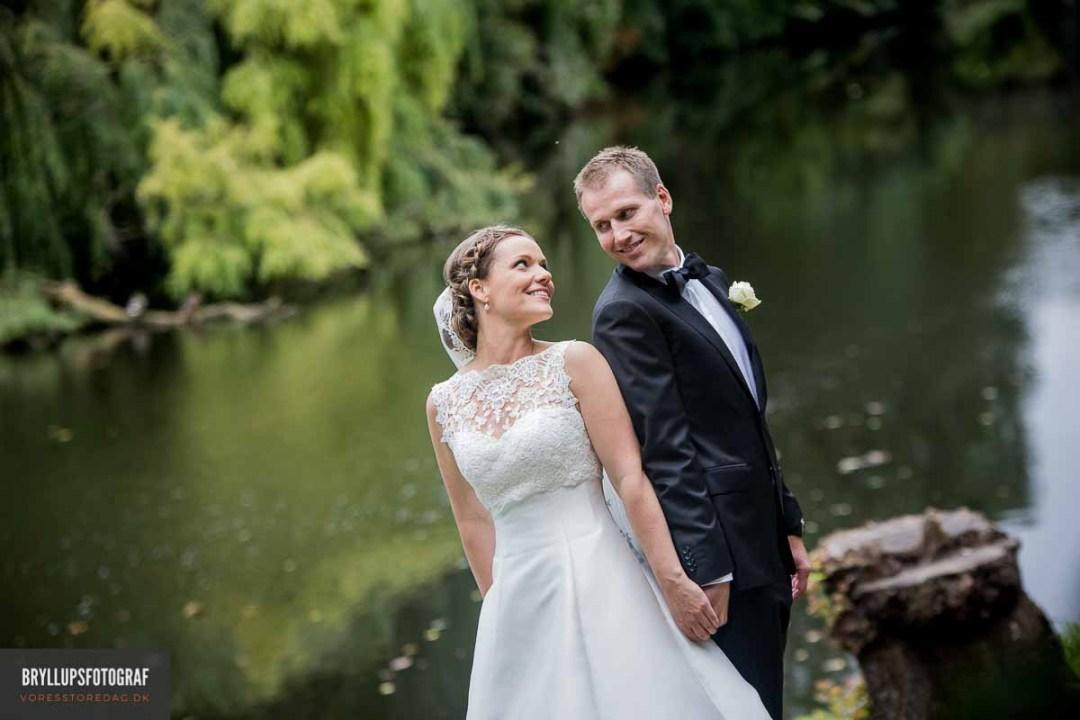 Bryllupsbilleder på lærred