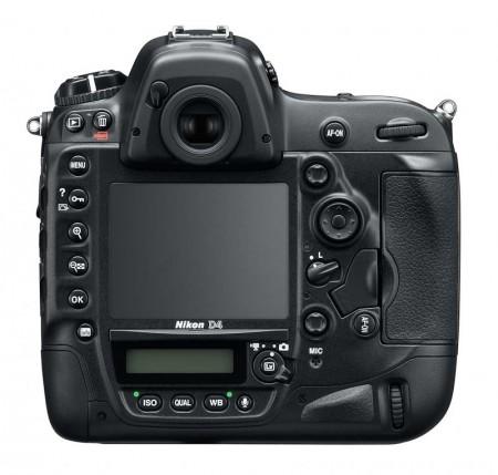 Nikon D4 Back 450x429 A Nikon D4   Concebida para expandir os limites
