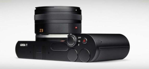 Vista superior/lateral da Leica T