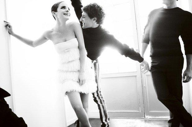Emma Watson para a Vogue Britânica, por Mario Testino.