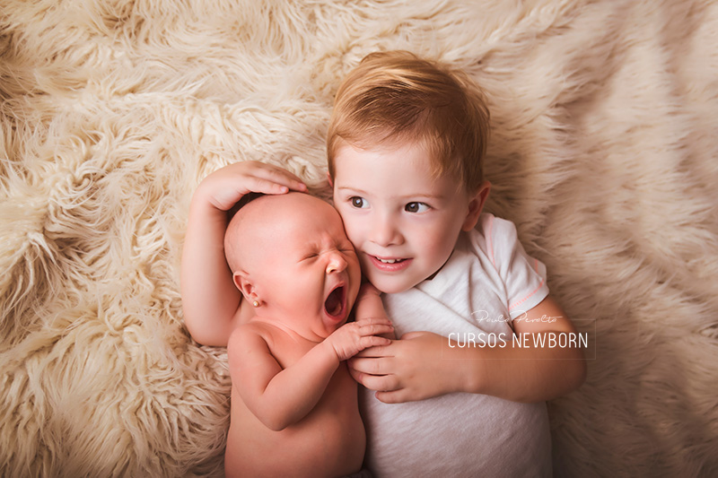 fotos newborn con hermanito