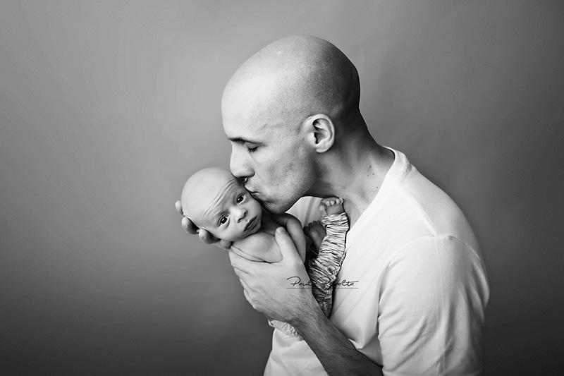 sesion de fotos newborn fotos con papá