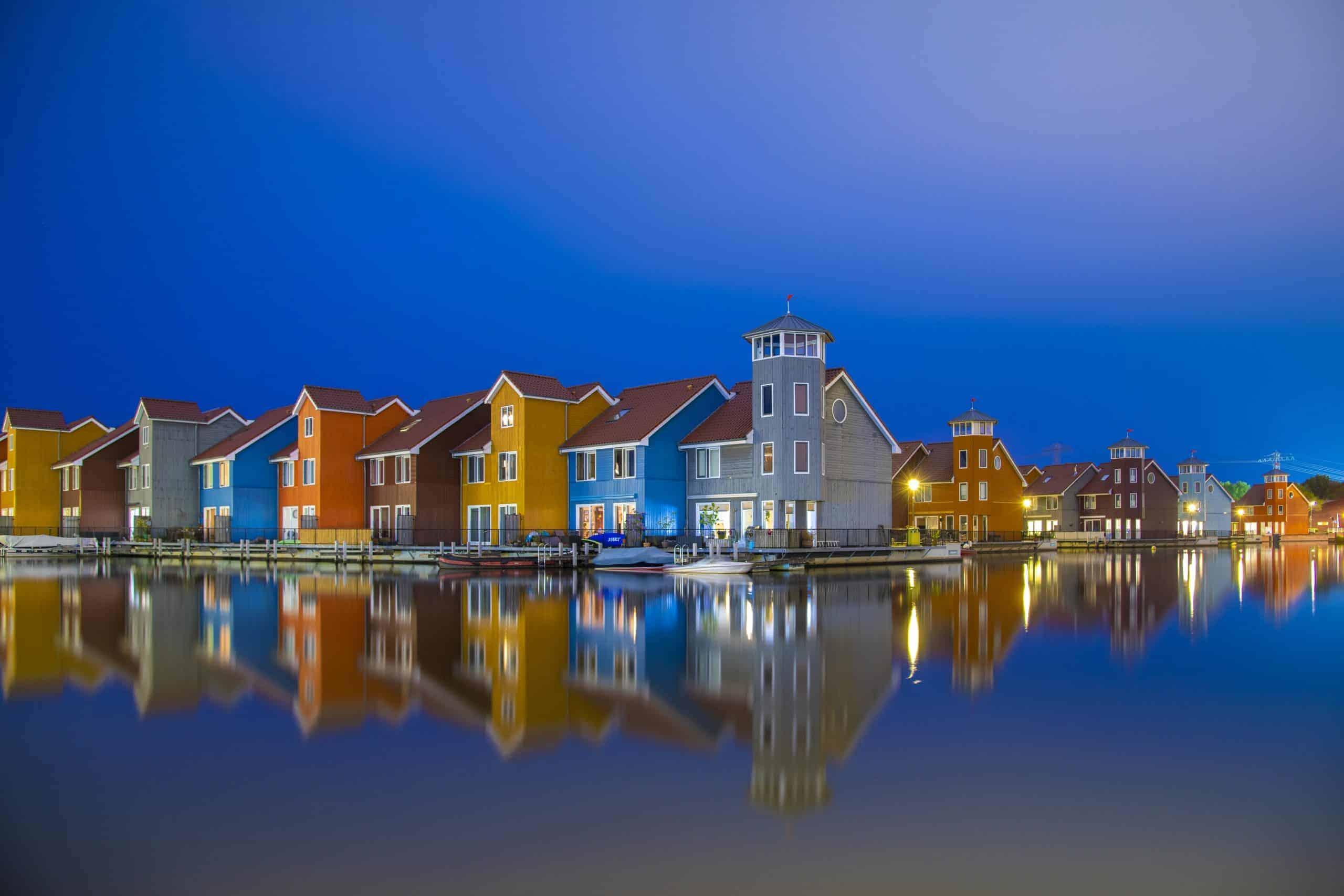 Fotografiecursus Reitdiephaven Groningen in het blauwe kwartiertje.