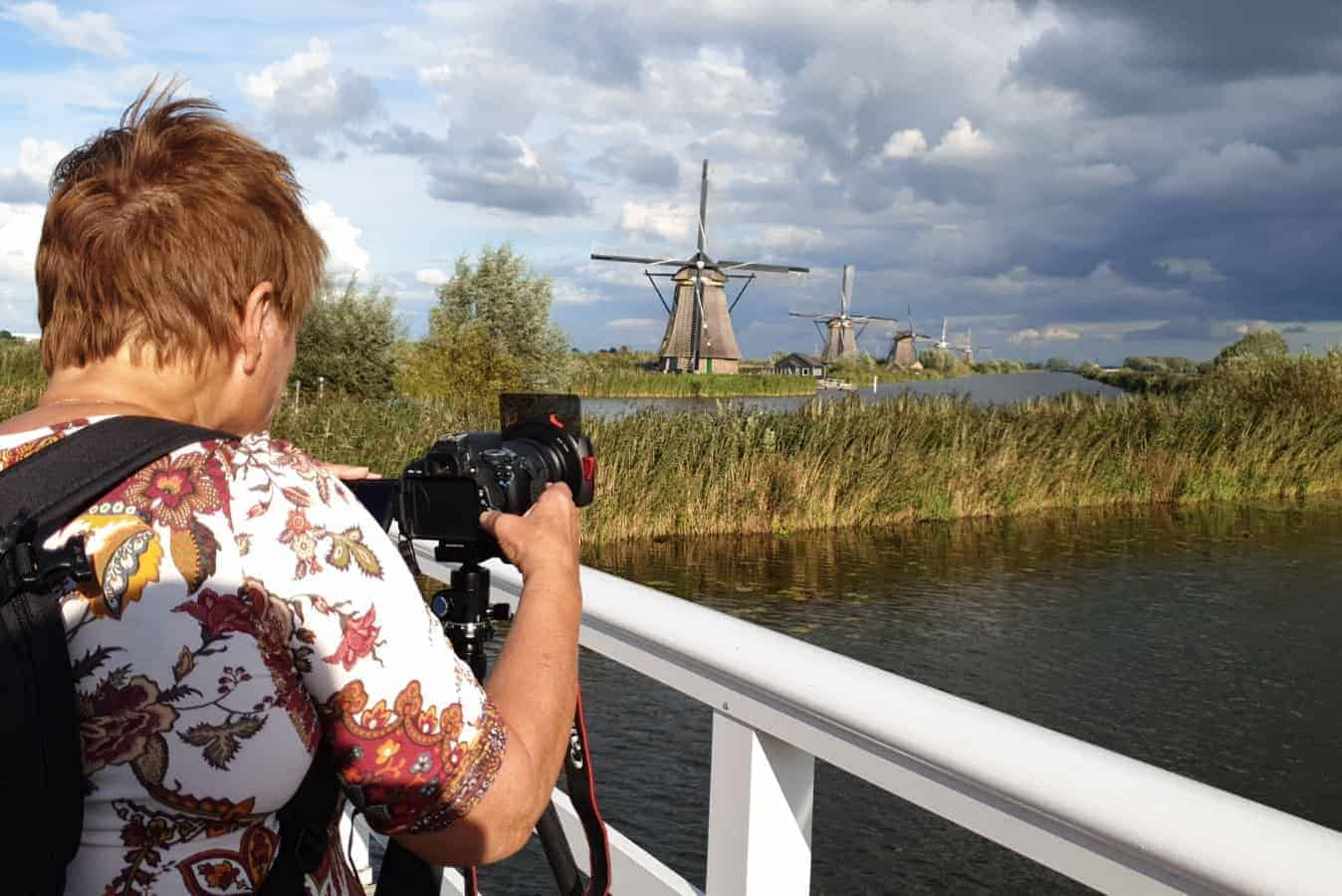Deelneemster maakt HDR foto bij Zaanse Schans - Fotografie-reizen