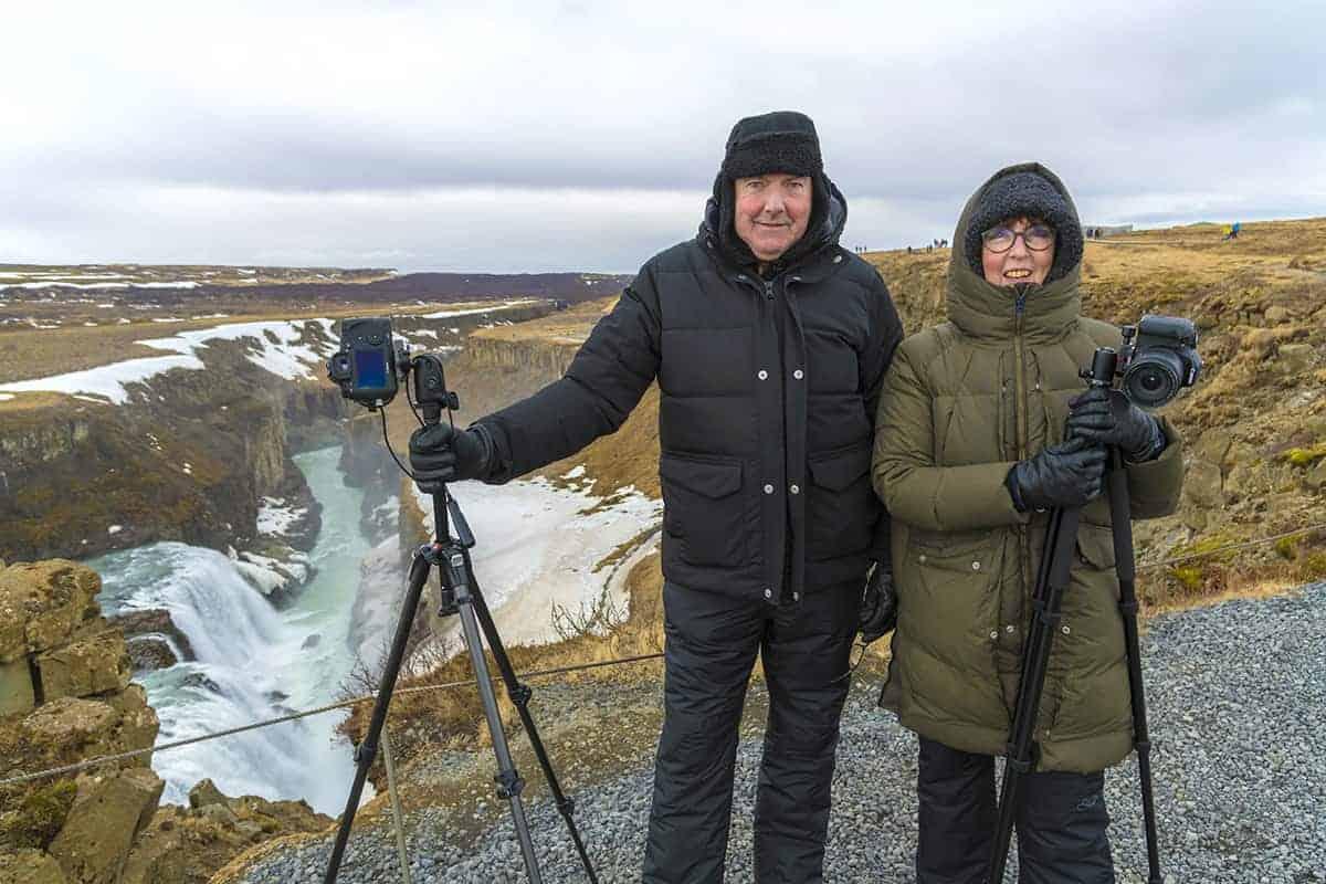 Fotografiereis IJsland Erwin en Marry bij Gullfoss