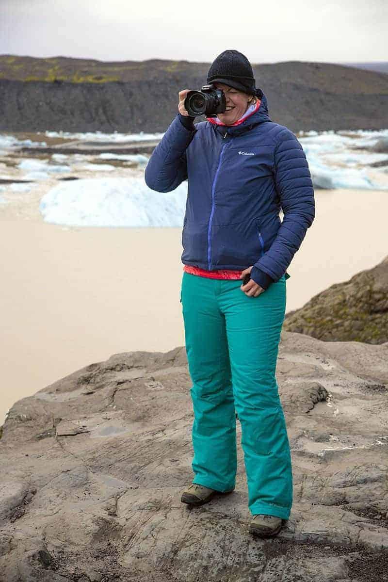 Fotografiereizen Ijsland Andrea bij Svinafellsjokull