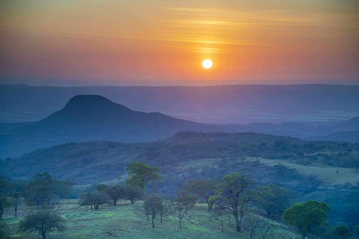Fotografie reis Costa Rica zonsondergang