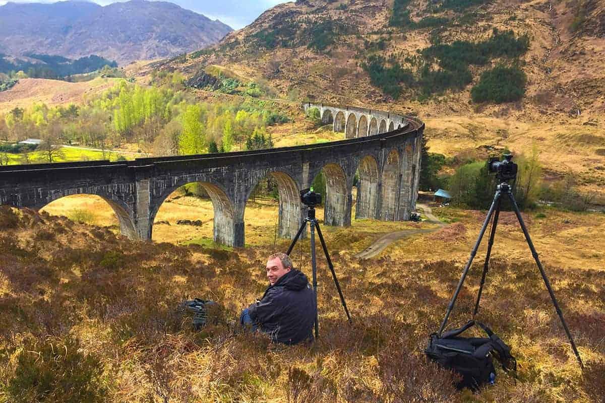 Fotoreis Schotland - Ron bij Glennfinnan Viaduct