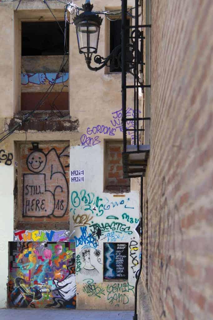 Fotoreis Valencia - muur graffiti
