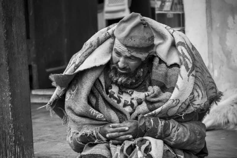 Workshop Straatfotografie - Zwerver op straat met deken