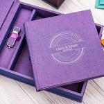 Combi-Box: kies uit 14 duo kleur met opbergbox en usb stick.