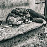 armoede, zwerver, wijn, sloeber, slapen, stok, schoenen, bank