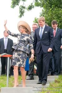 Willem-Alexander en Maxima in Wageningen