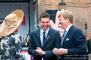 Pieter van de Hoogenband met maxima en Willem Alexander in Utrecht