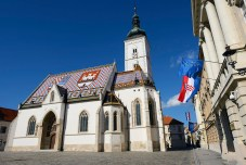 St. Marks' church in Zagreb, Croatia is one of the most beautiful and oldest buildings in the city, originally built in the 14th century.