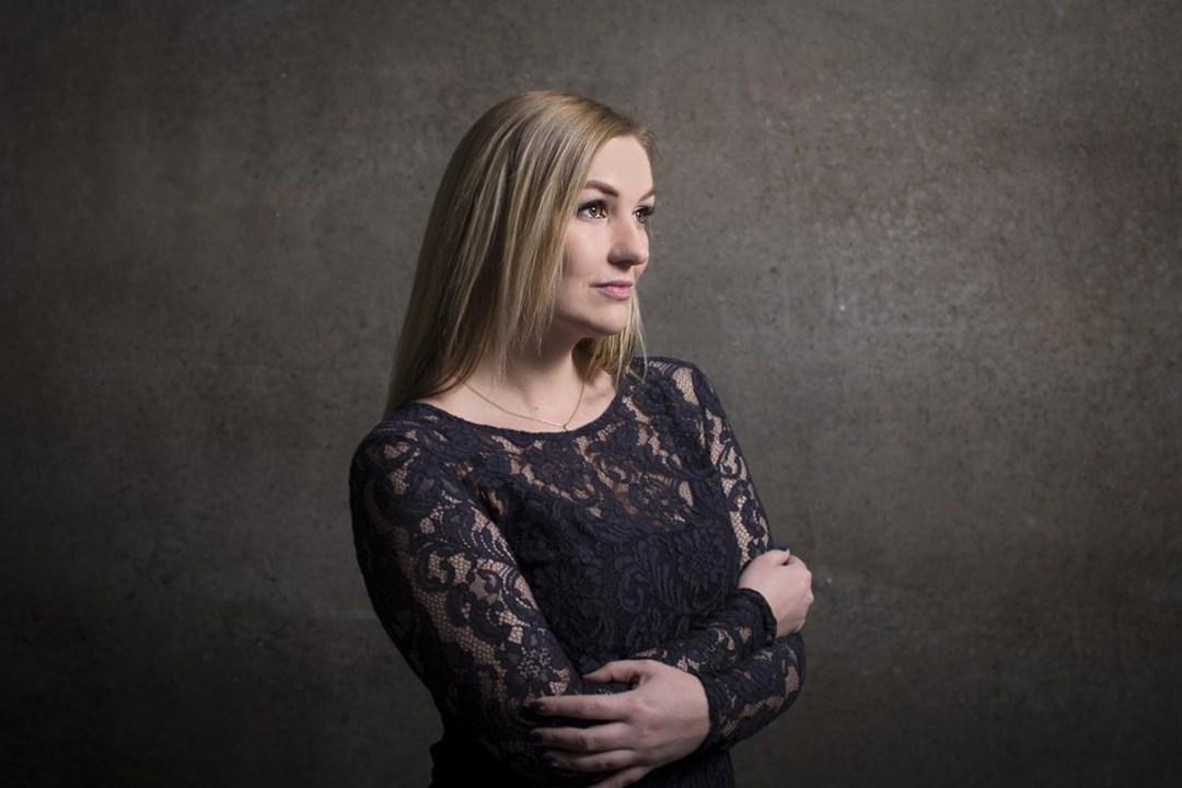 smuk kvinde portrætfoto