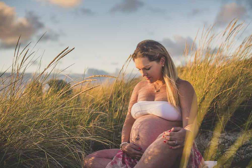 gravid fotografering udendørs Kolding