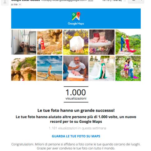 I complimenti di google a fotografo creativo